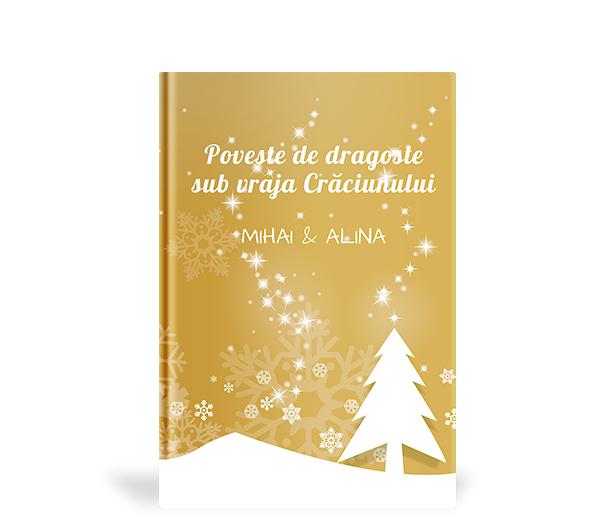 carte cadou personalizata cu ocazia Craciunului - Poveste de dragoste sub vraja Craciunului