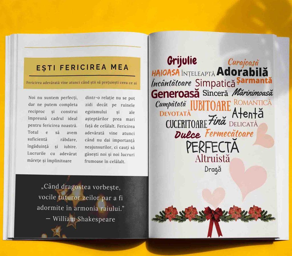 carte personalizata pentru iubiti de Craciun- cadou de Craciun pentru iubiti sau soti