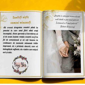carte personalizata pentru nunta - cadou pentru nunta, cununie, starea civila de la nasi