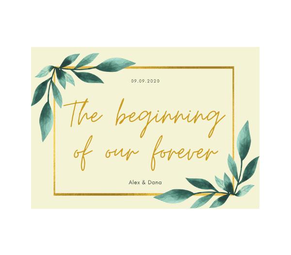 Fotocarte Album de nuntă The beginning of our forever